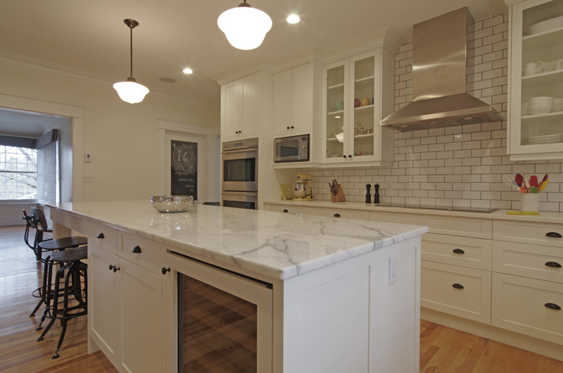 clc amp norman whynot turn this run down old house into a natural marble topped island stylish kitchen island